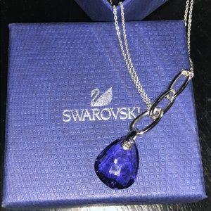 Purple crystal Swarovski necklace